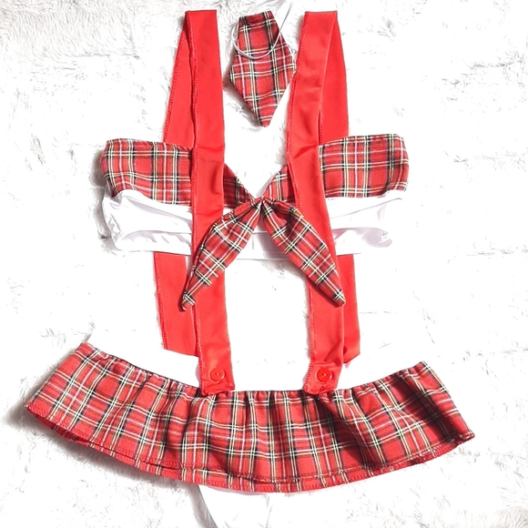 Plaid and red costume.  New without tags.